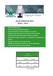 28 DE JUNHO DE 2013 Sexta – feira - Sindimetal/PR