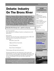 Debate: Industry On The Bronx River - Bronx River Alliance