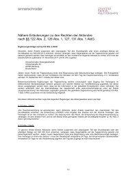 Nähere Erläuterungen zu den Rechten der Aktionäre nach §§ 122 ...
