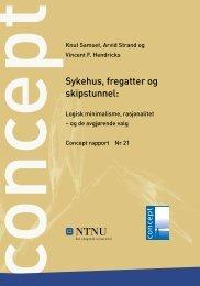 Sykehus, fregatter og skipstunnel: Logisk ... - Concept - NTNU