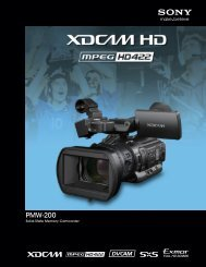 Download the PMW-200 Brochure - Sony
