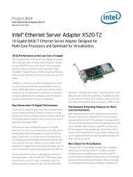 Intel® Ethernet Server Adapter X520-T2 Product Brief.
