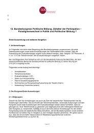 Evaluation Bundeskongress Politische Bildung