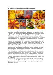 Press Release Be bowled over by Cinnamon Grand's Pakistani ...