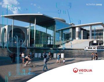 Télécharger le rapport d'activités 2009 (pdf - 6.1Mo) - Veolia Eau