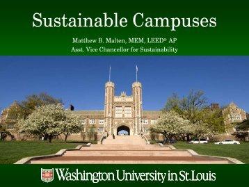 Summary & Overview of Partner University Sustainability Efforts