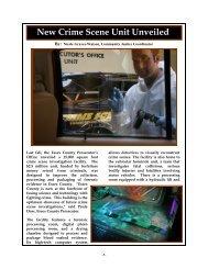 New Crime Scene Unit Unveiled - Essex County Prosecutor's Office