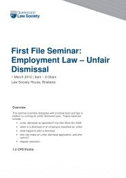 Unfair Dismissal - Queensland Law Society
