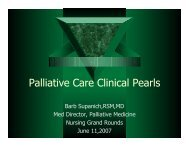 Palliative Care Clinical Pearls - Holy Cross Hospital