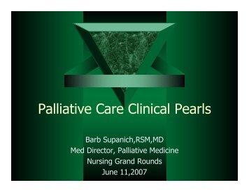 Palliative Care Clinical Pearls - Holy Cross Hospital