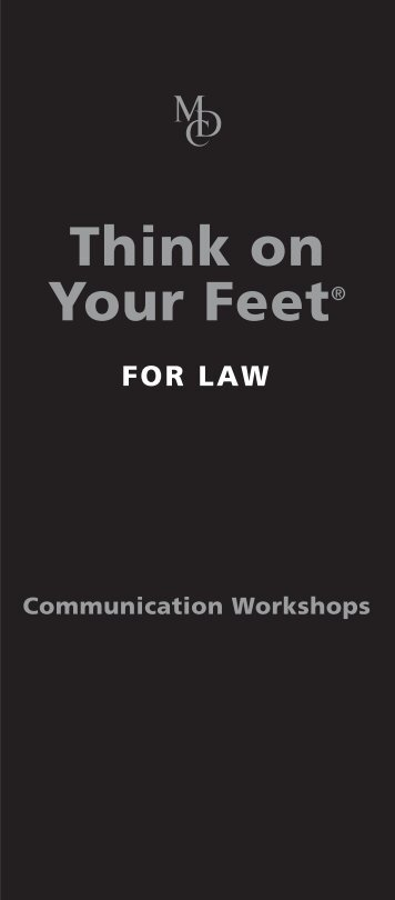 Think on Your Feet® - McLuhan & Davies Communications