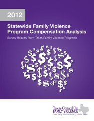 2012 Salary Survey - Texas Council on Family Violence