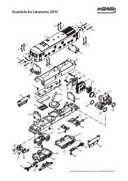 Einzelteile der Lokomotive 37274