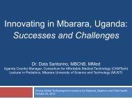 Innovating in Mbarara, Uganda - Center for Global Health