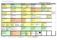 Kursplan ab 01. März 2012 Montag Dienstag Mittwoch Donnerstag ...