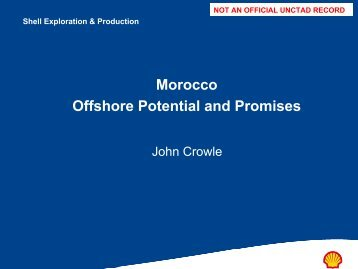 Morocco Offshore Potential and Promises - Unctad XI