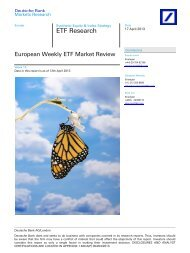 ETF Research - ETFs - Deutsche Bank