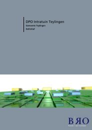 Bijlage 1 Distributie Planologisch Onderzoek - Gemeente Teylingen