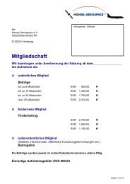 Mitgliedschaft - HANSE AEROSPACE e.V
