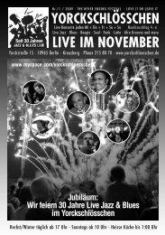 LIVE IM NOVEMBER - Yorckschlösschen