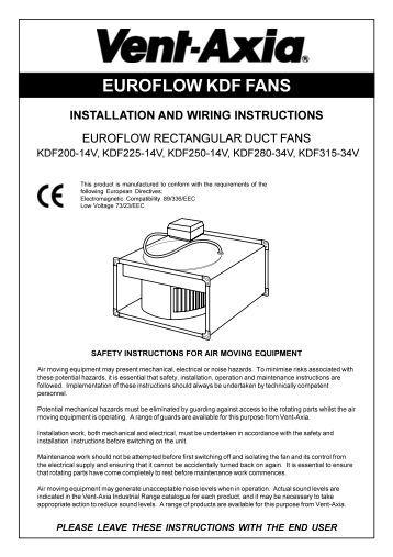 O&M Instructions - Vent-Axia