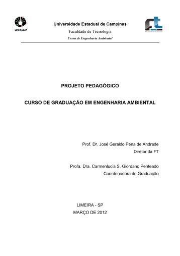 Projeto Pedagógico - Faculdade de Tecnologia - Unicamp