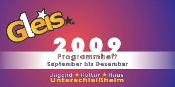 Programm von Januar bis April 2009 - Gleis 1
