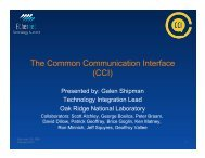 The Common Communication Interface (CCI)
