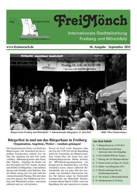 Ausgabe 36 - Bürgerverein Freiberg und Mönchfeld eV