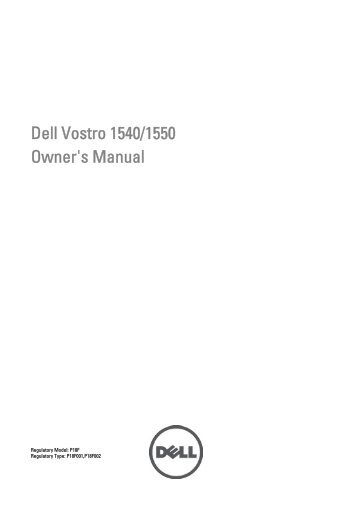 Support for vostro 1540 | manuals & documents | dell us.