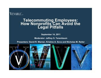 Telecommuting Employees: How Nonprofits Can ... - Venable LLP