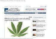 Kifferkraut Cannabis wird salonfähig - sogar in der Medizin ... - STCM