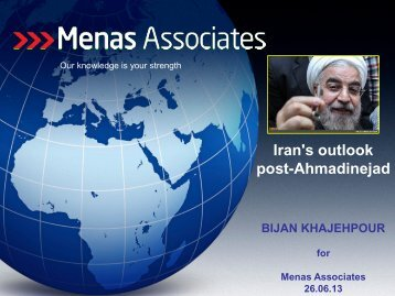 Breakfast Briefing Presentation June 2013 - Menas Associates
