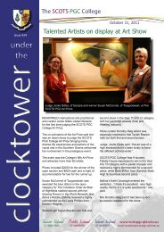 Clocktower 424 - Talented Artists on Display at Art - The SCOTS ...