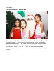 Press Release Santa's Workshop at the Cinnamon Grand Santa's ...