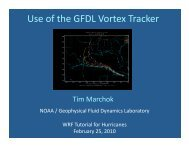 Use of the GFDL Vortex Tracker - DTC