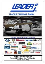 unsere Preisliste - LEADER TRADING GMBH