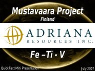 Finland - Adriana Resources Inc.
