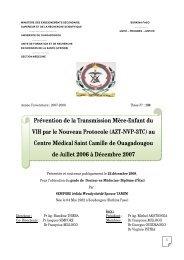 Prévention de la Transmission Mère-Enfant du VIH par le Nouveau ...