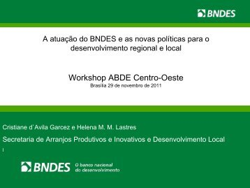Workshop ABDE Centro-Oeste