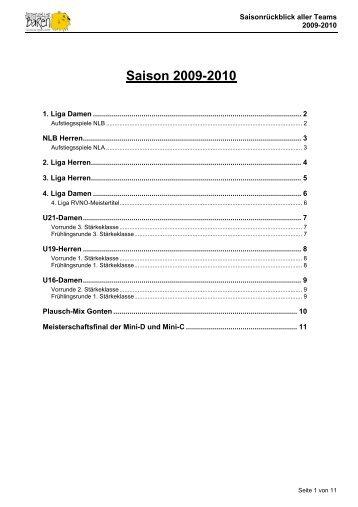 Saison 2009-2010 - bei den Appenzeller Bären