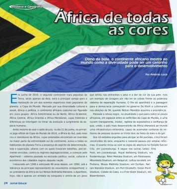 Dono da bola, o continente africano mostra ao mundo como ... - Appai