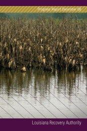 Progress Report December 08 - Louisiana Recovery Authority