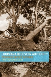to download the October 2008 LRA Quarterly Report. - Louisiana ...