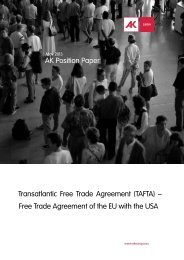 Free Trade Agreement of the EU with the USA - Seattle to Brussels ...