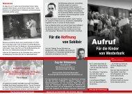 Flyer Sobibor Berlin - Zug der Erinnerung