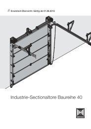 Industrie-Sectionaltore Baureihe 40 - Hörmann KG