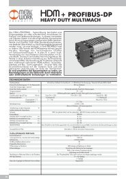 Heavy Duty - HDM - Profibus-DP - HPV - Kantimm