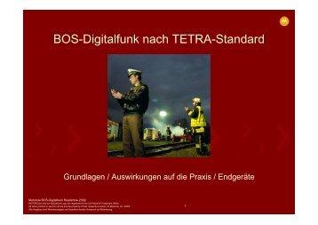 BOS-Digitalfunk nach TETRA-Standard