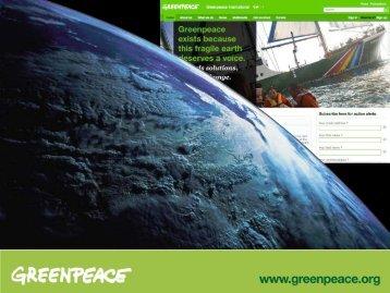 Greenpeace - Deploying a Global Web Framework - EPiServer World